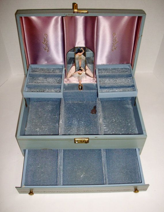 Vintage Musical Jewelry Box Ballerina Mele Plays By NanNasThings 6800