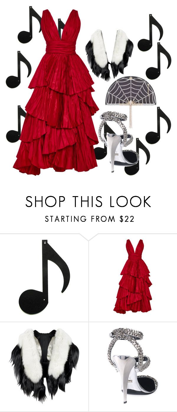 """A Night at the Opera"" by emeille ❤ liked on Polyvore featuring Oscar de la Renta, Fearfur, Tom Ford and Charlotte Olympia"