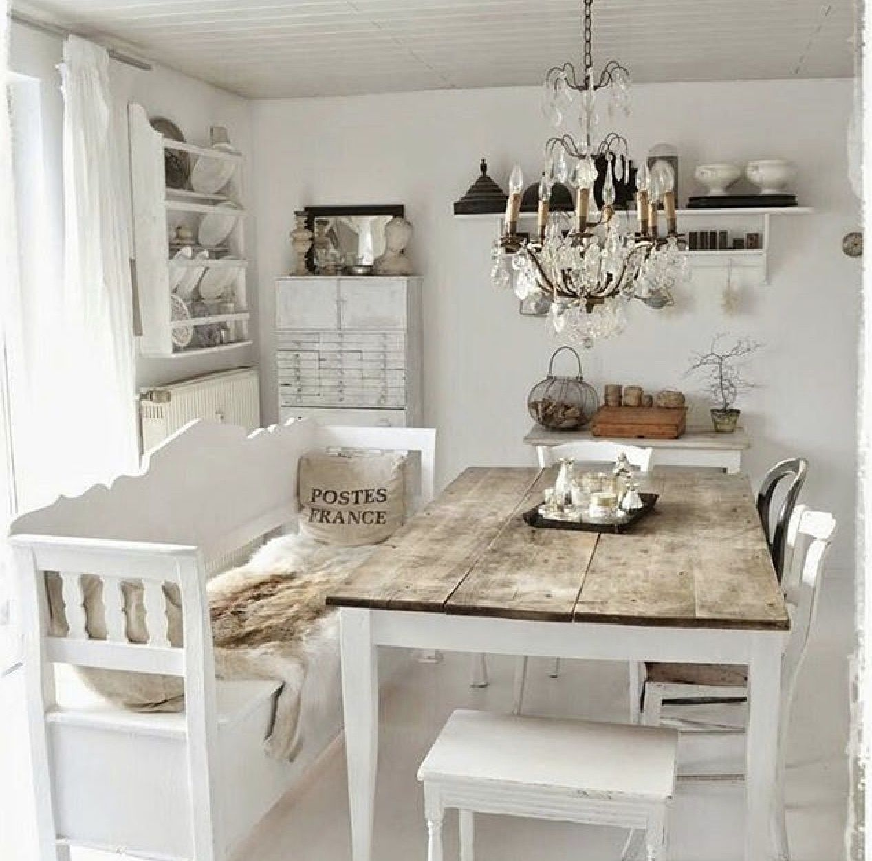 Pin By Adrienne Arter On Shabby Chic Kitchen Chic Dining Room