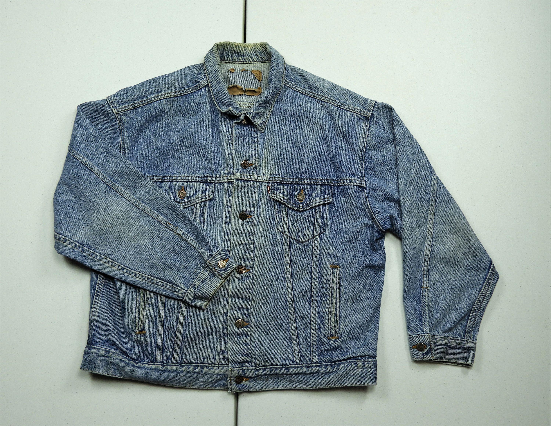 Vintage Levi S Jacket Denim Trucker Coat Blue Jean Boho Fashion Distress Fade Medium Wash 70507 1390 10 Vintage Levis Jacket Trucker Coat Levis Jacket