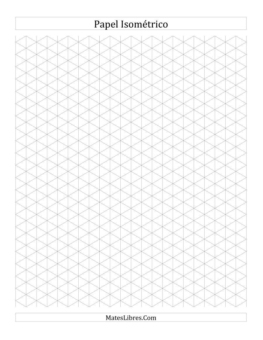 Papel Isometrico De 1 Cm Vertical Todas Cuadricula Isometrica Papel Isometrico Plantillas De Papel