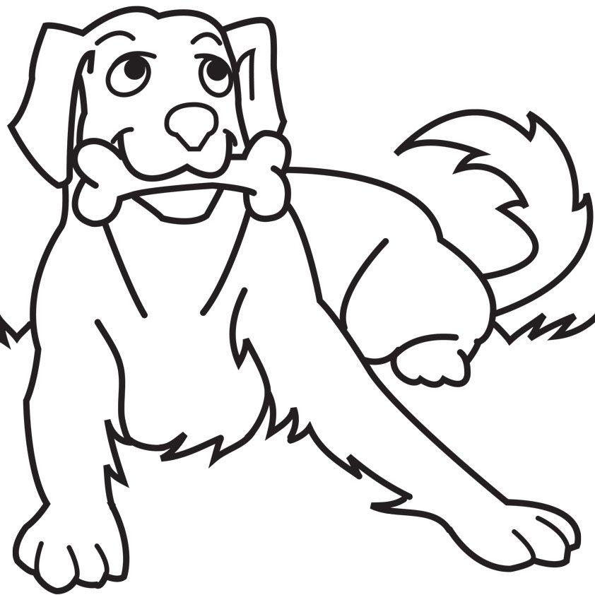 Ausmalbilder Hunde Welpen - Hunde sind verspielte, pelzige ...