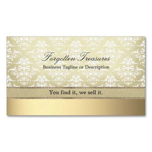 Elegant Vintage Light Golden Damask Business Card Zazzle BIG