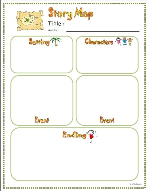 Story Map Template Differentiated Story Map Organizers Story