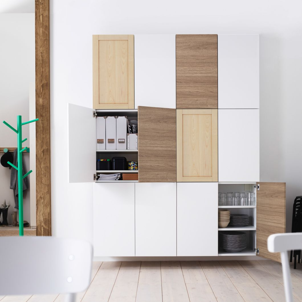 Ikea Kitchen Cupboards: More Than A Place To Eat: Add A Wall Of Double-door IKEA Kitchen Cabinets, Stacked Two Wide And