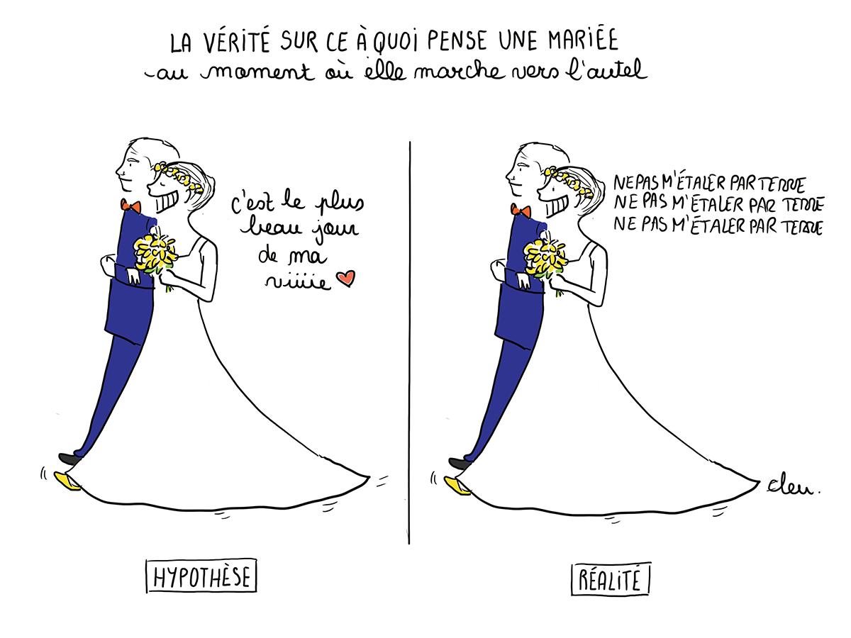 Trébucher Le Jour De Son Mariage Mariage Dessin Idées De