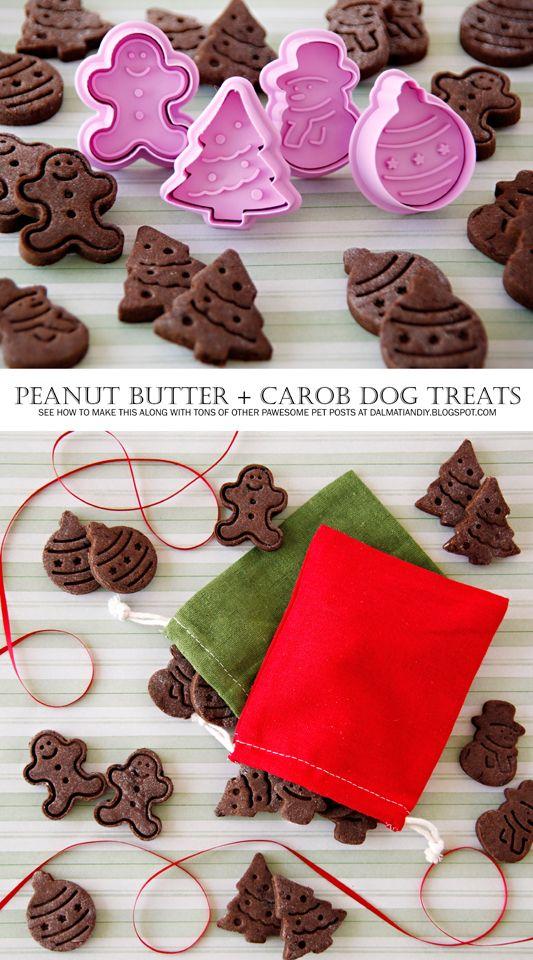 recipe peanut butter and carob christmas dog treats