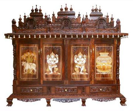 Code-48 Wooden Carved Teakwood Temple / Mandir, wooden Temple ...