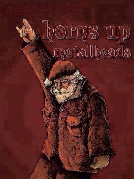 Heavy Metal Christmas.Metal Santa My Music Heavy Metal Christmas Christmas