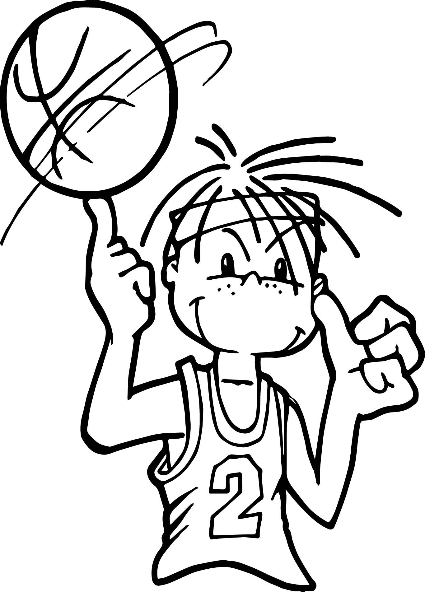 Awesome Boy Playing Basketball Coloring Page Em 2020 Desenhos