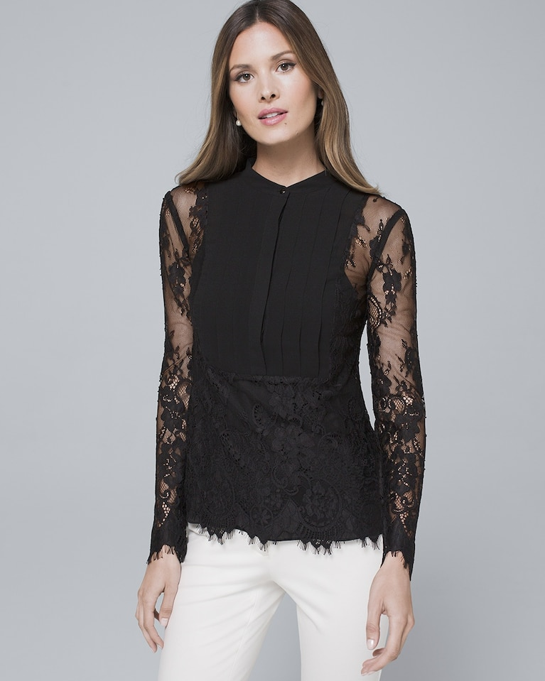 e1e1fbe86d Women's Lace Blouse by White House Black Market in 2019 | Products ...