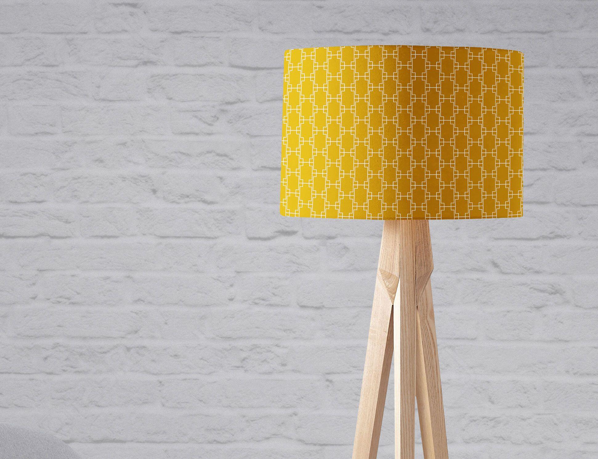 Yellow Light Shade Geometric Lampshade Mustard Lampshade Yellow