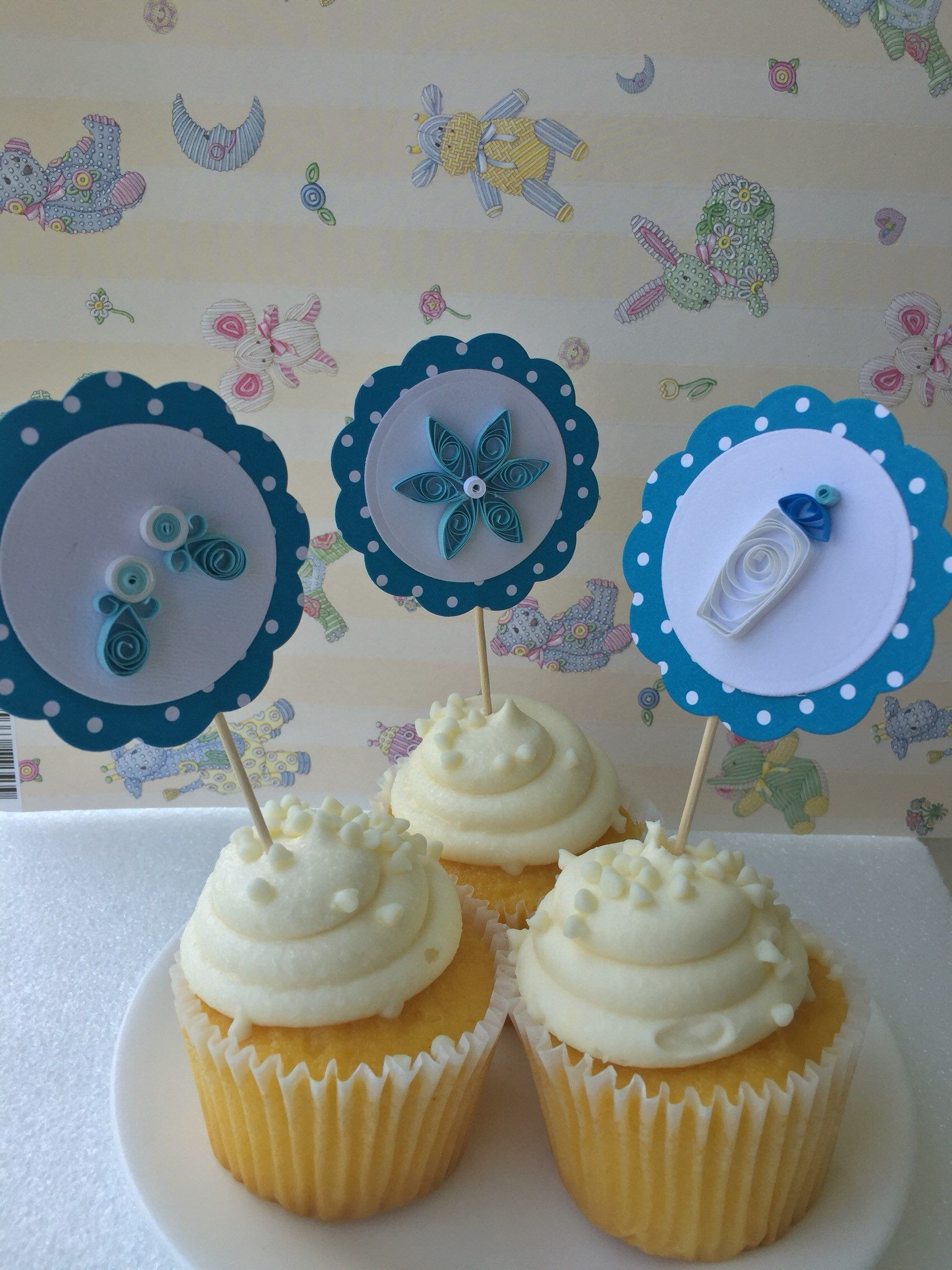Baby Boy Cupcake Topperscupcake Topper Baby Shower Cupcake Toppers