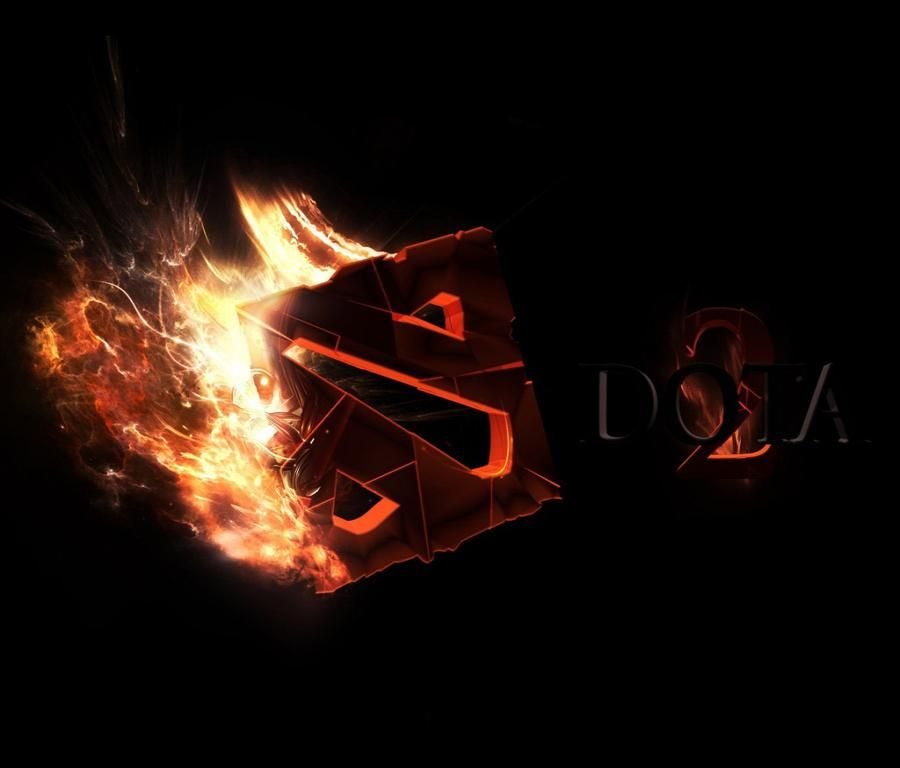 Beautiful Dota 2 Burning Logo
