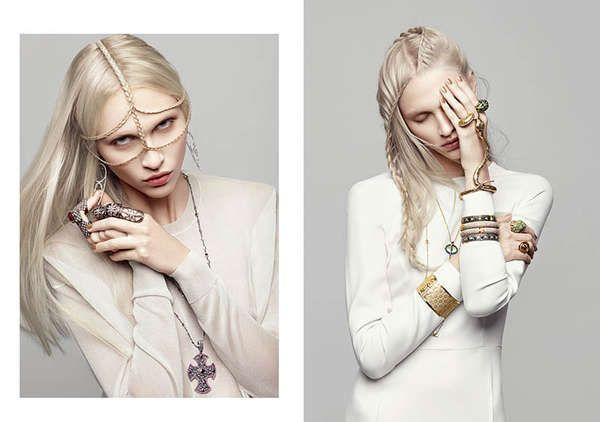 Photo of Serpentine Jewelry Photoshoots Harper's Bazaar Ukraine March 2013