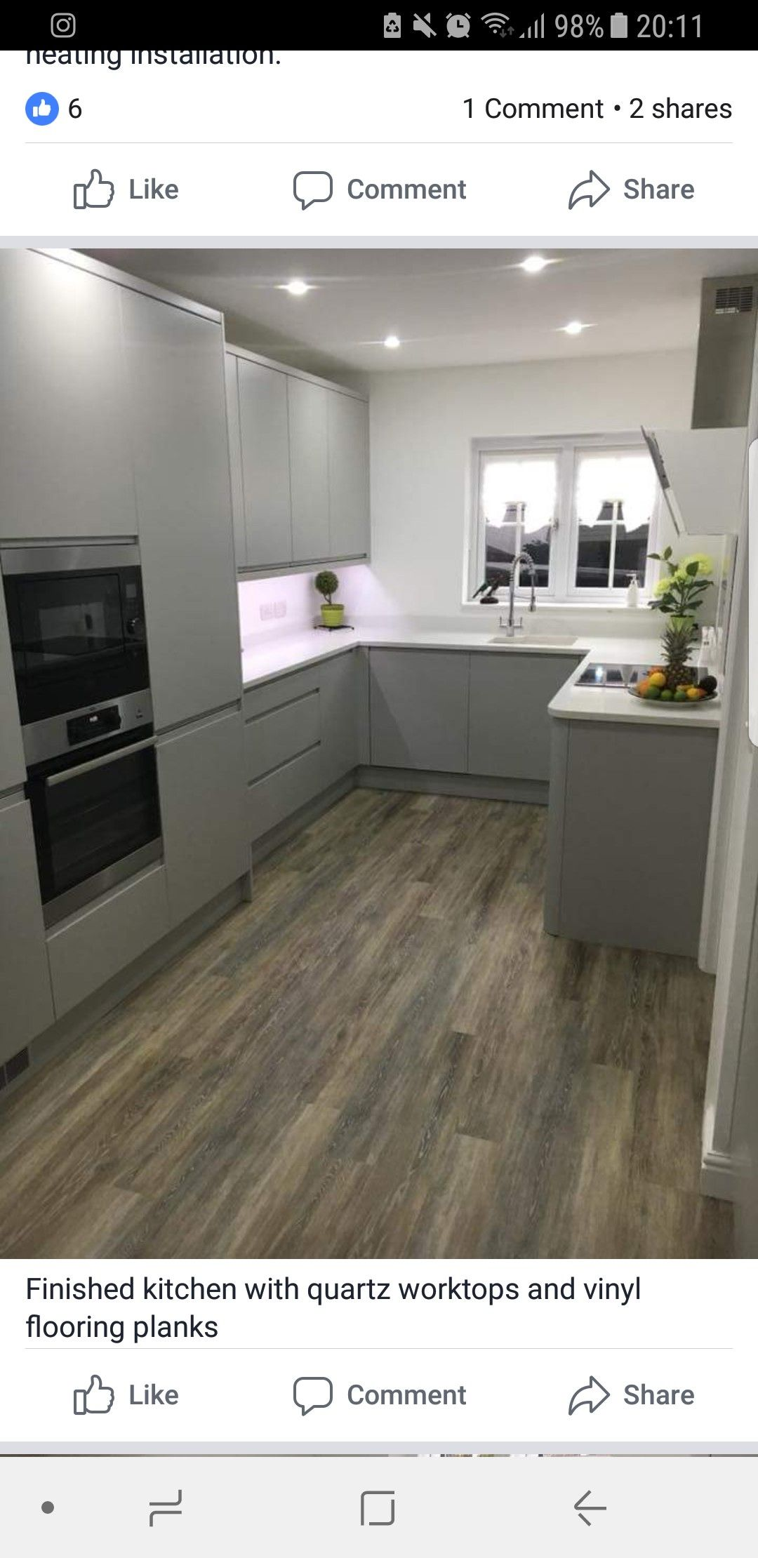 white gloss kitchen black worktop - Google Search | House ...