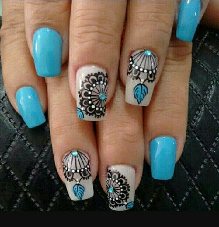 Azzurro nudo cappuccino schiaccia sogni | nails | Pinterest ...