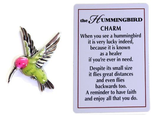 The Hummingbird Symbol Of Life And Joy Charm With Story Card Gift