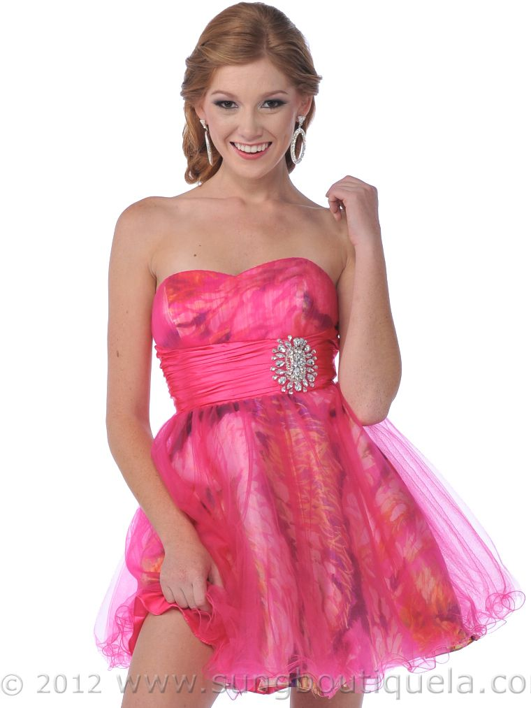 Pink Strapless Prom Dresses - Ocodea.com