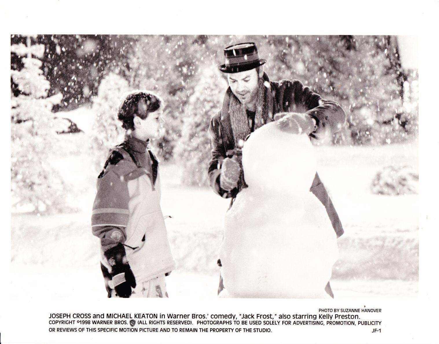 michael keaton joseph cross in jack frost 1998 movie promotional