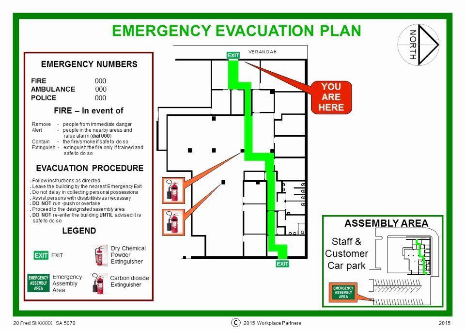 Home Evacuation Plan Template Inspirational Fire Escape