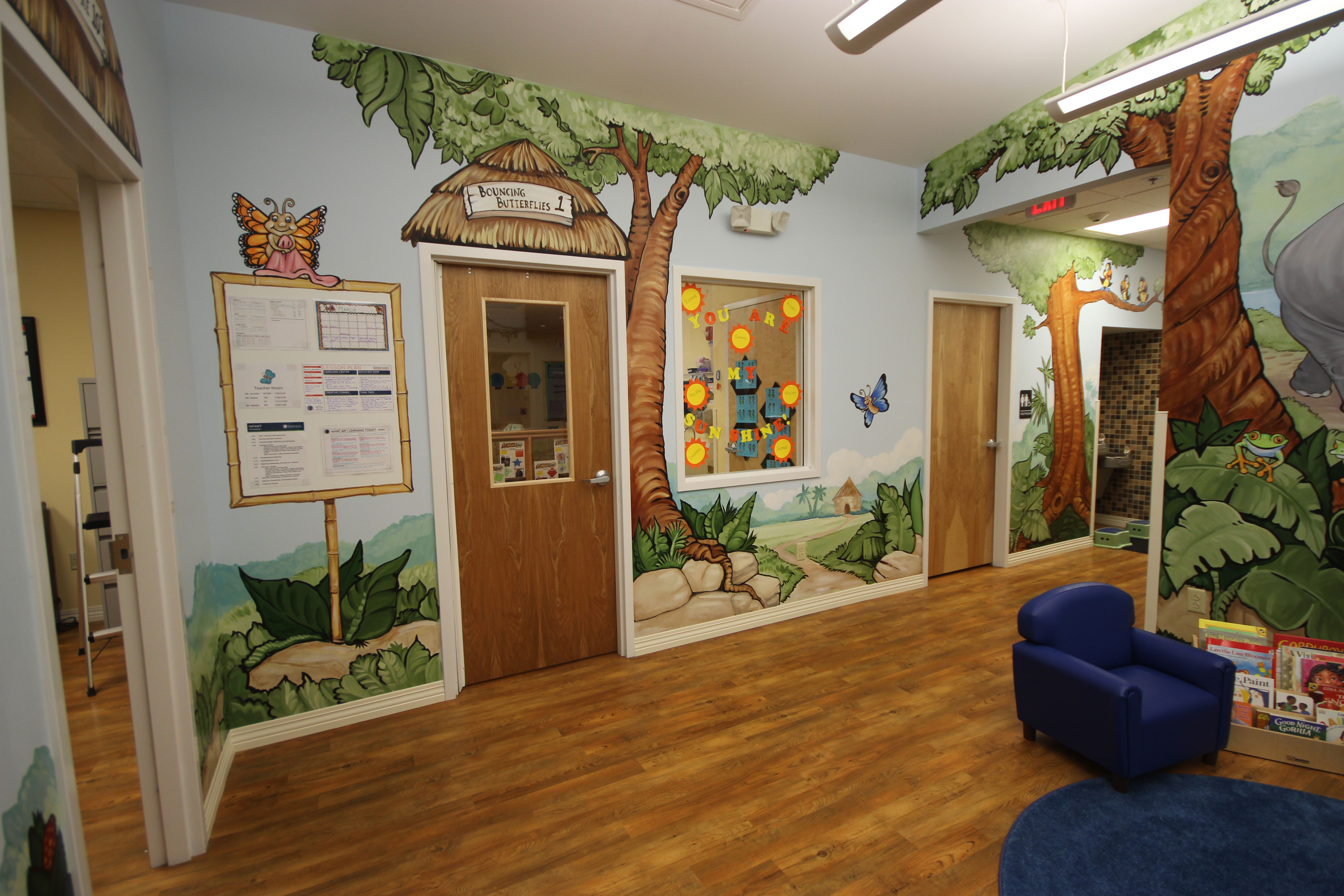The Bouncing Butterfly Classroom Murals Murals By Emily Ross Wwwemagination Studios