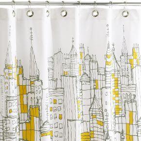Fabulous Cityscape Shower Curtain Cool Shower Curtains Shower