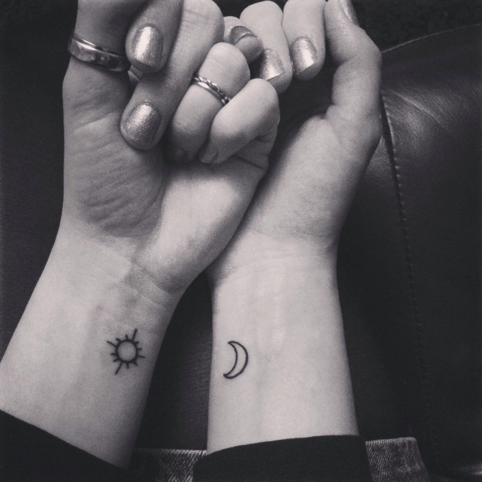 Sun And Moon Wrist Tattoo Tattoos Sun Tattoos Tattoos Friend