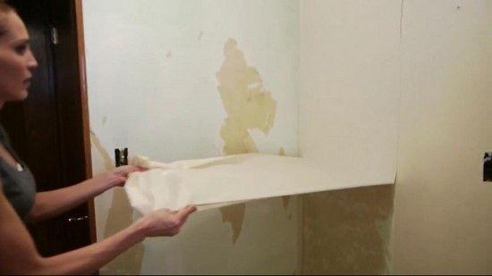 le secret pour d coller le papier peint facilement trucs. Black Bedroom Furniture Sets. Home Design Ideas