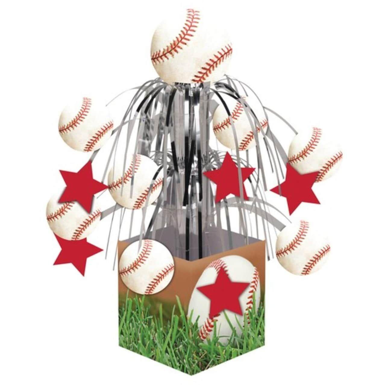 Pack Of 6 Baseball Sports Fanatic Mini Cascade Foil