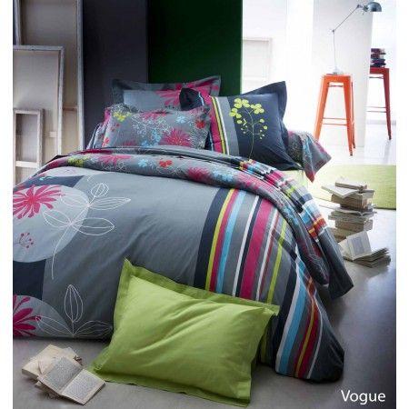 Bedroom Chambre Parure De Lit Coton Vogue Blancollection Made In France En 2020 Parure De Lit Idees De Lit Lit