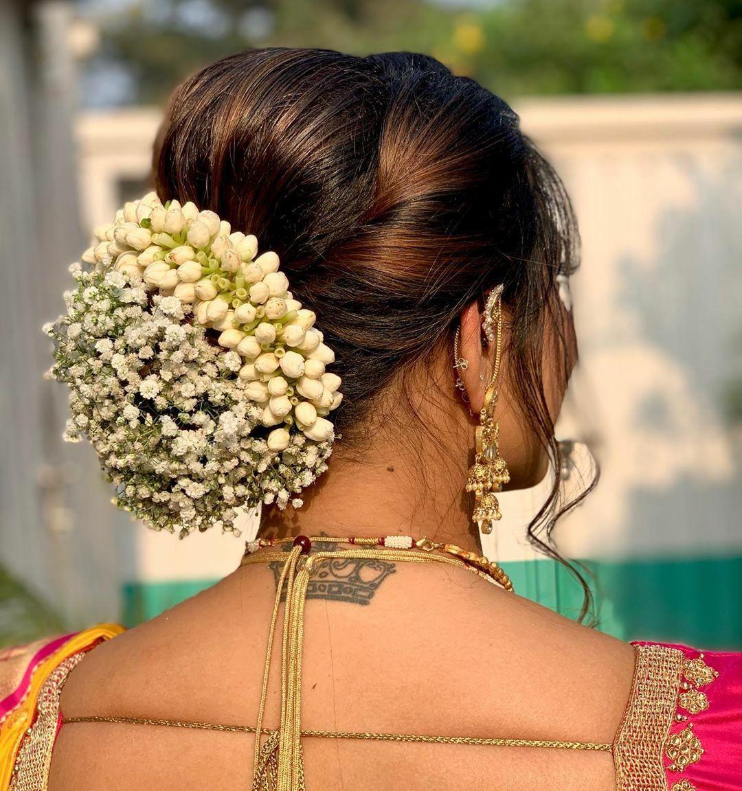 Pin by Ganesan Sankar on GAJARA HAIR BUN in 2020 | Indian ...