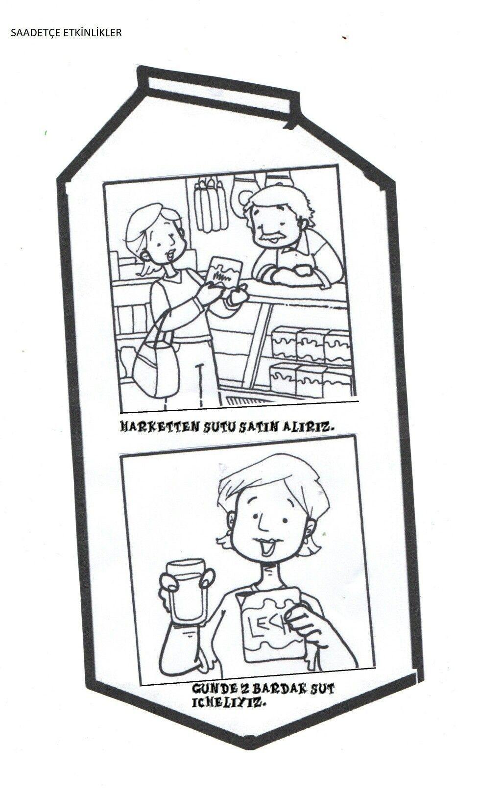 Aysecik Buyukelhan Adli Kullanicinin Yogurt Mayalama Panosundaki Pin Sut Boyama Sayfalari Faaliyetler