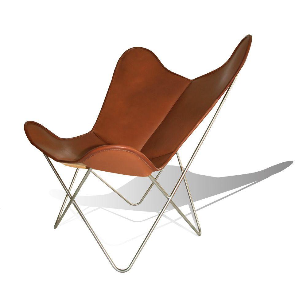Hardoy Butterfly Chair ORIGINAL Leder Tabak #weinbaum #butterflychair  #designklassiker