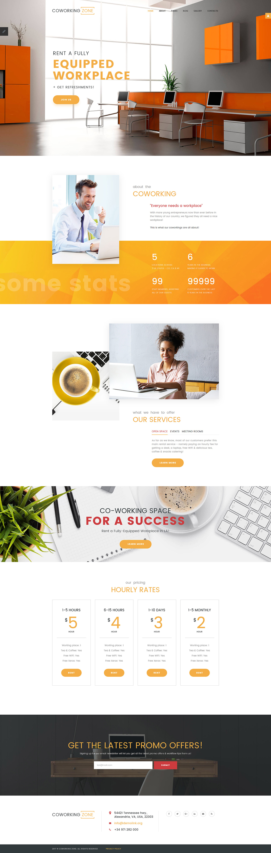 Coworking Zone Responsive Joomla Template Web Layout Design Creative Web Design Web Design Inspiration