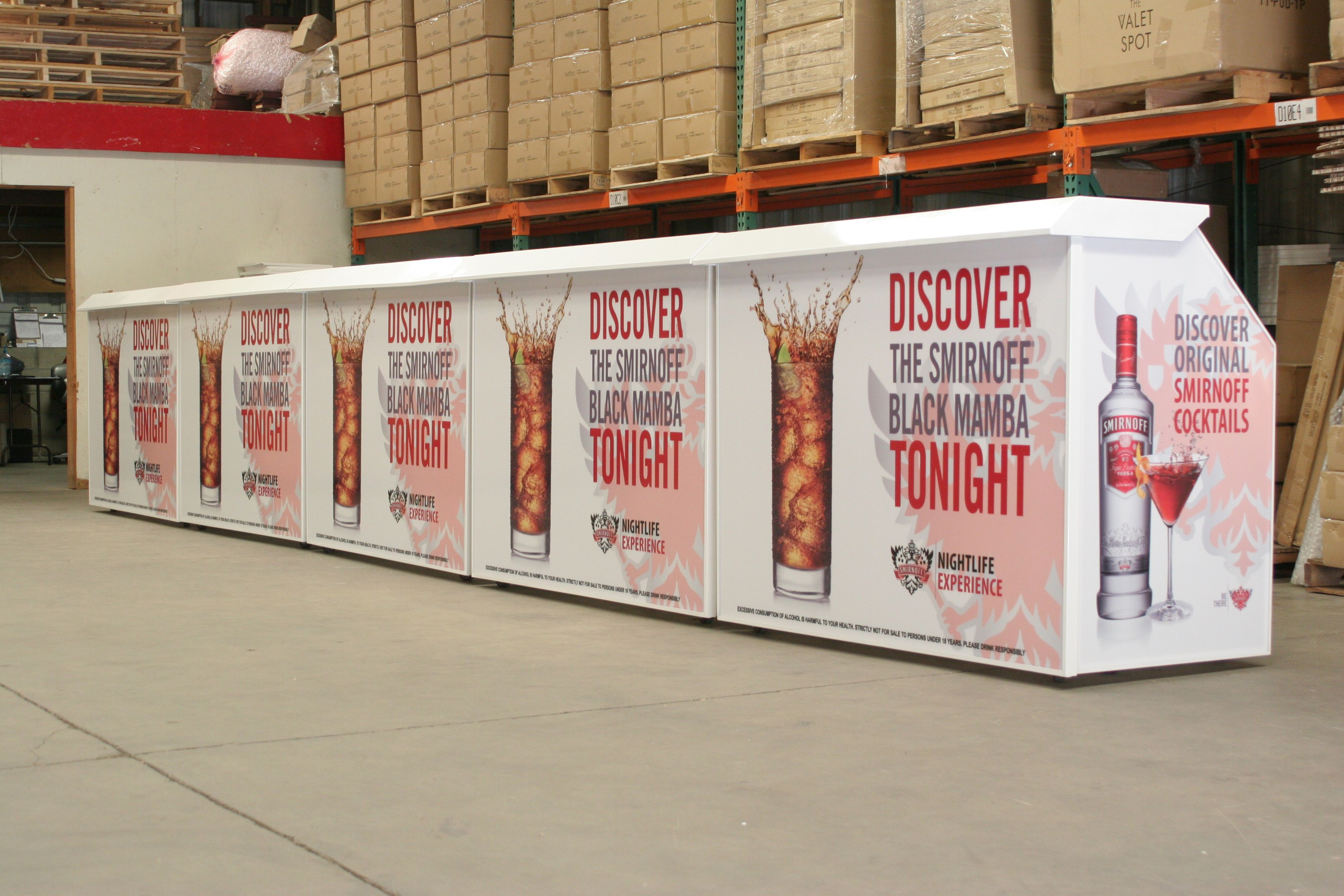 Smirnoff Professional Portable Bars By The Bar Company