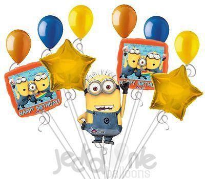 Despicable Me Minions Steve Happy Birthday Balloon Bouquet Party