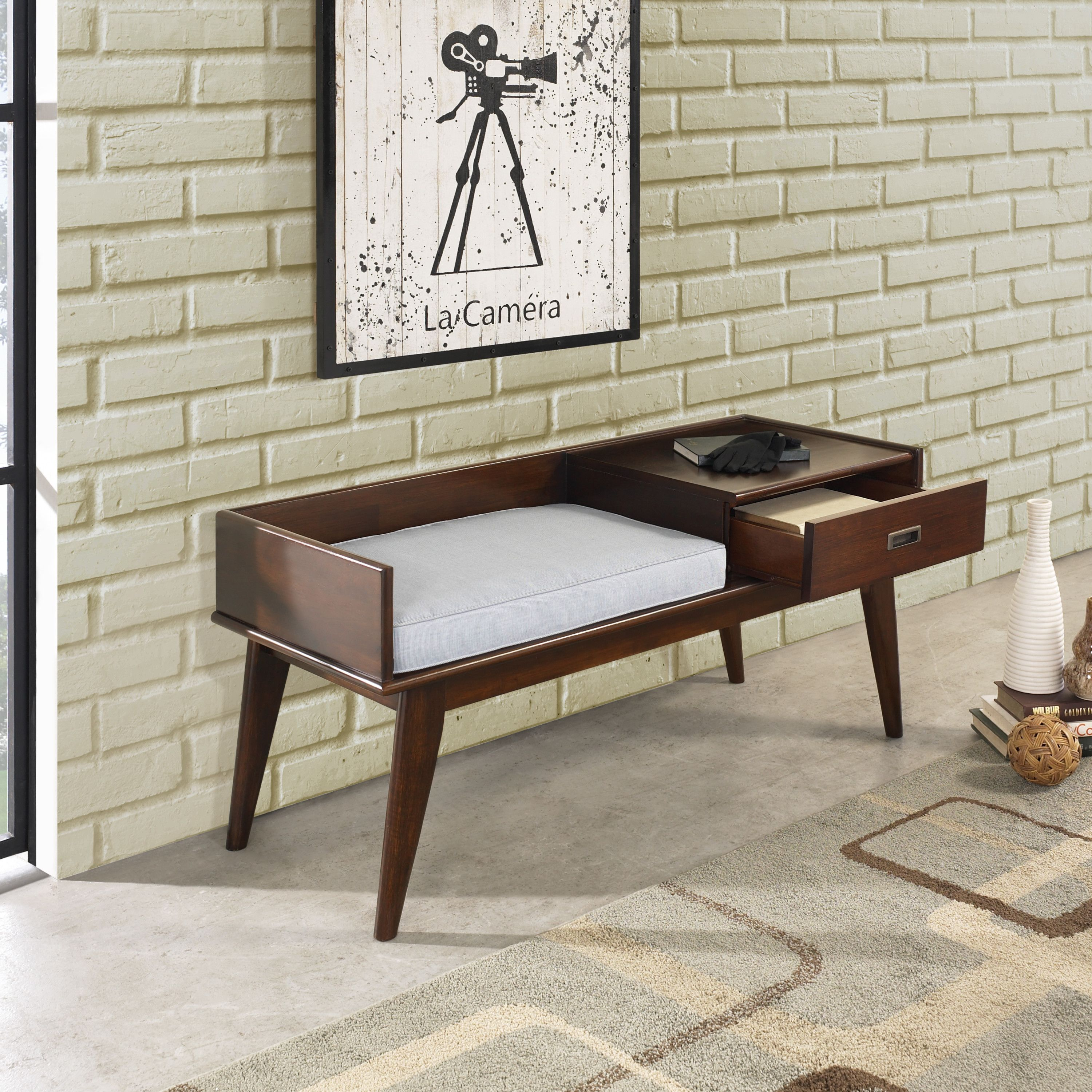 Pleasant Halvorson Wood Storage Bench Apartment Entryway Bench Ncnpc Chair Design For Home Ncnpcorg