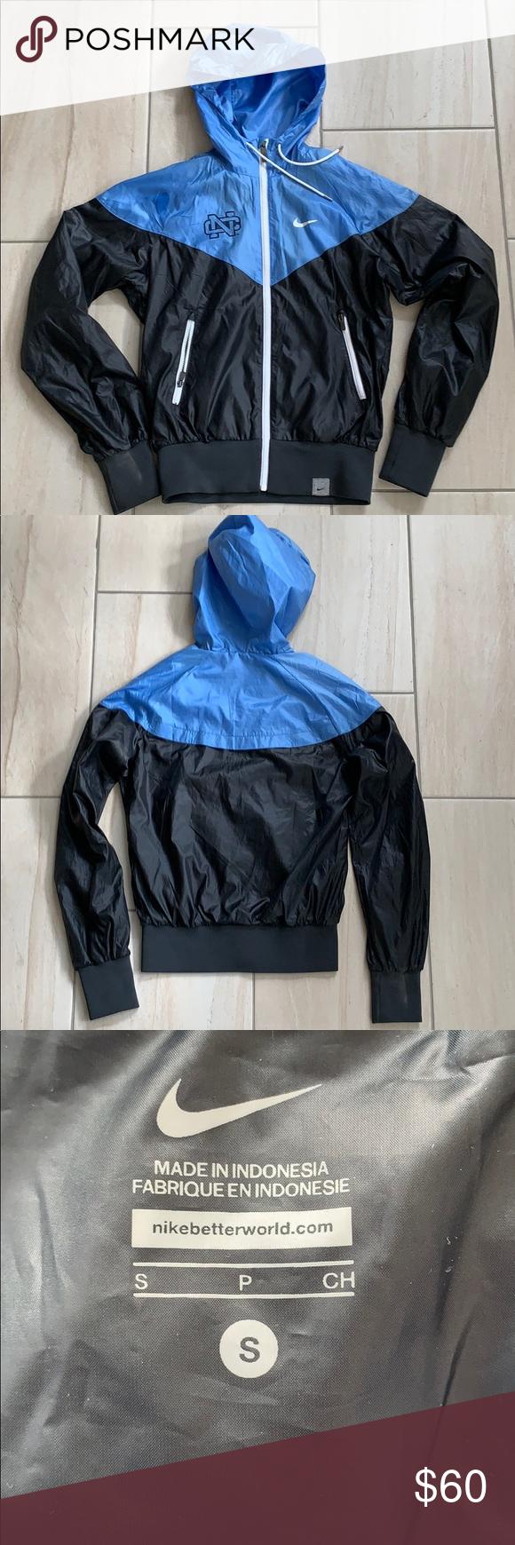 7e70b51e2c65 Nike NC black blue wind runner jacket size small The Nike Sportswear  Windrunner Women s Jacket