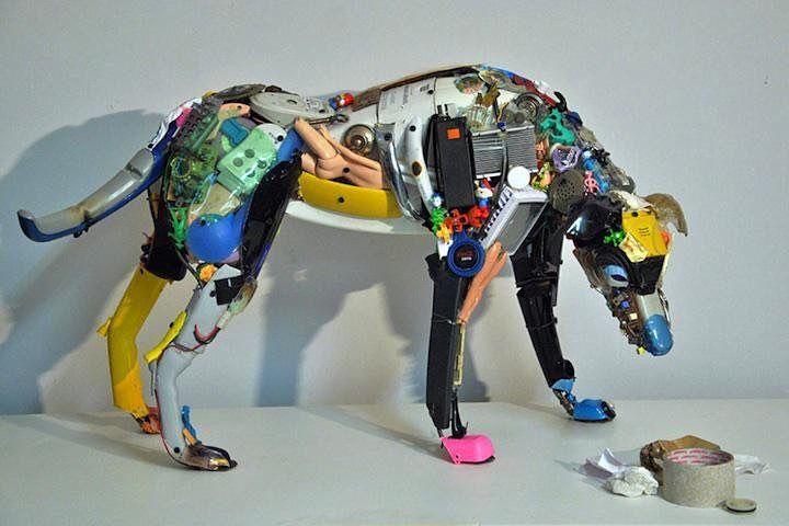Arte y reciclaje unidos #reciclarte #creatividad #reciclajecreativo #reducereusa #recicla #ecovida #pet #aluminio #ecologia #noesbasura