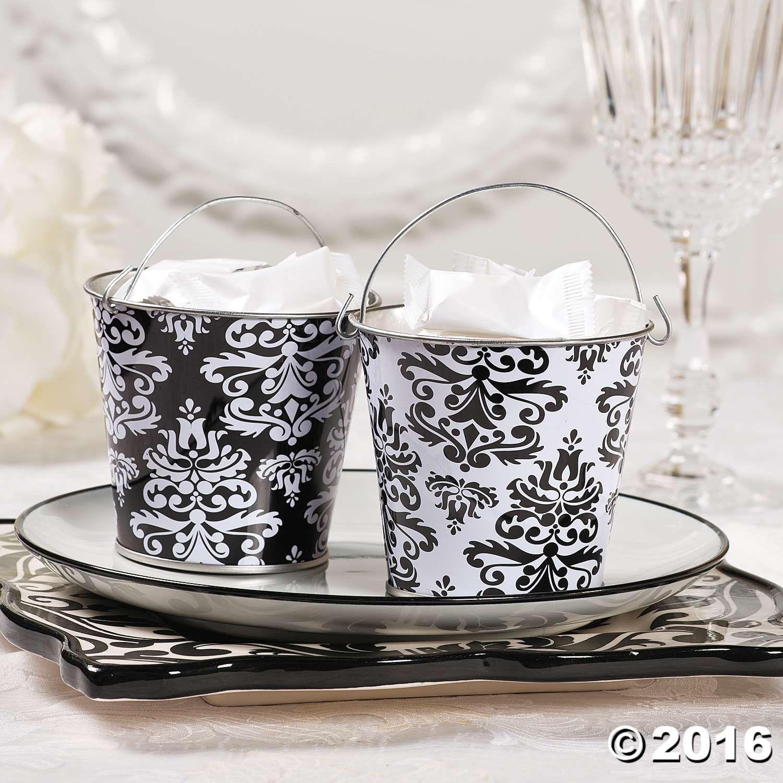 Black & White Wedding Favors Ideas - Black and White Pails | Black ...