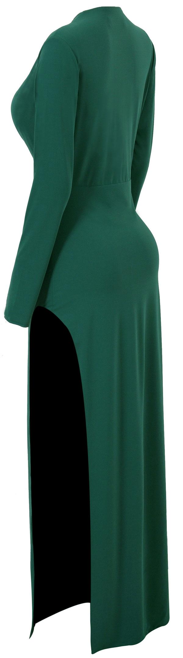 Clothing maxi dresses urileyu evergreen deep v double thigh
