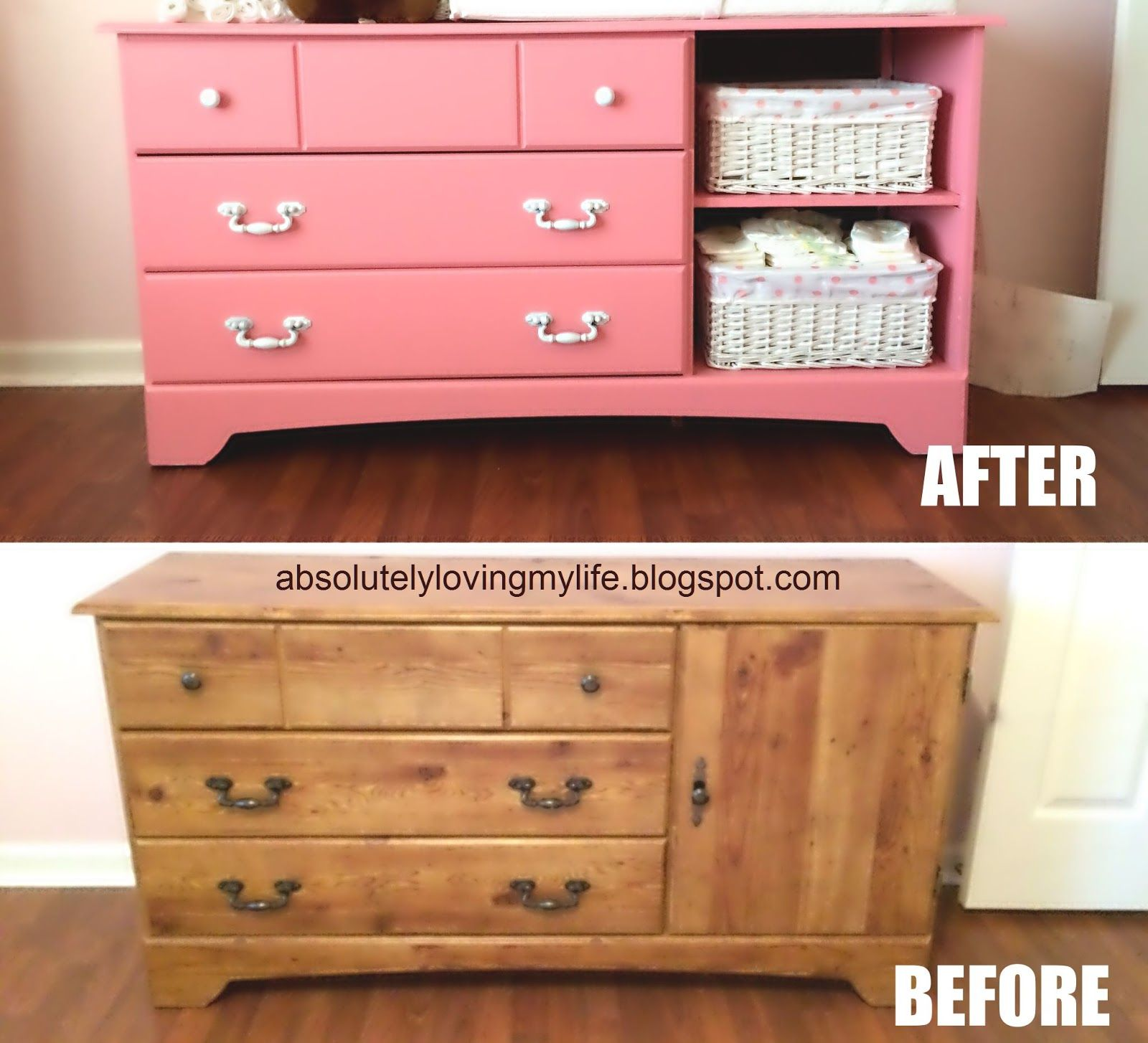 Upcycled Goodwill Dresser Repurposed Into Nursery Changing Table