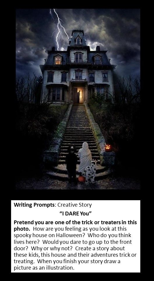 005 picture writing prompt creative story Halloween haunted