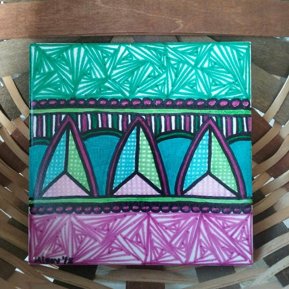 Zentangle inspired ceramic tiletrivet in my etsy shop basket girl zentangle inspired ceramic tiletrivet in my etsy shop basket girl creations dailygadgetfo Choice Image
