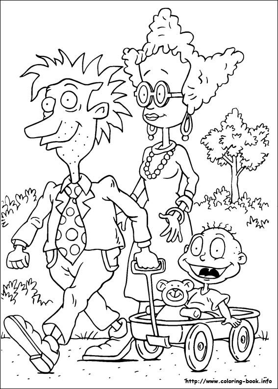 Rugrats coloring picture | Coloring Pages | Pinterest | Rugrats ...