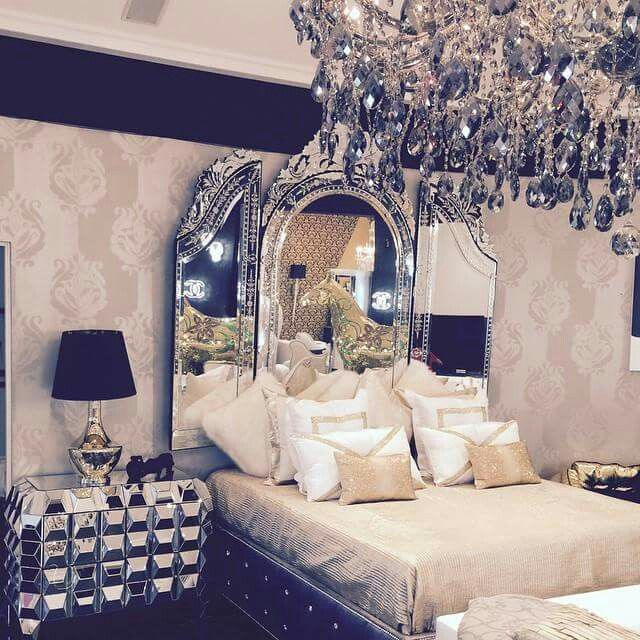 Amazing Of Awesome Fancy Design Ideas Apartment Bedroom I: K Michelle Amazing Master Bedroom Decor With Bling And