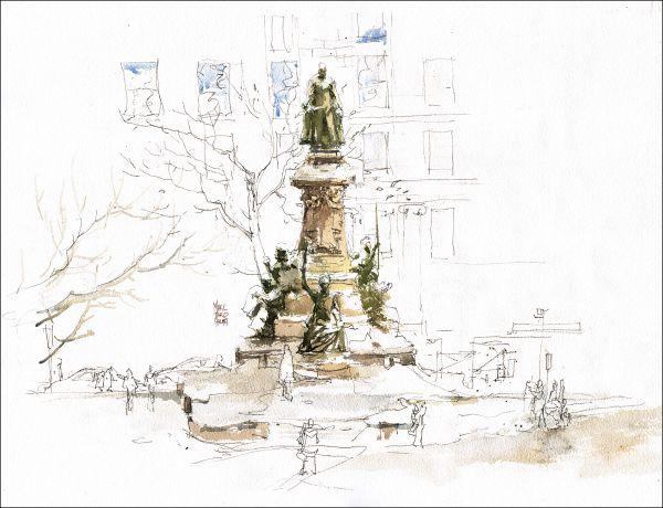 [A3N] : Sketching King Edward from the Hudson's Bay / Marc Taro Holmes