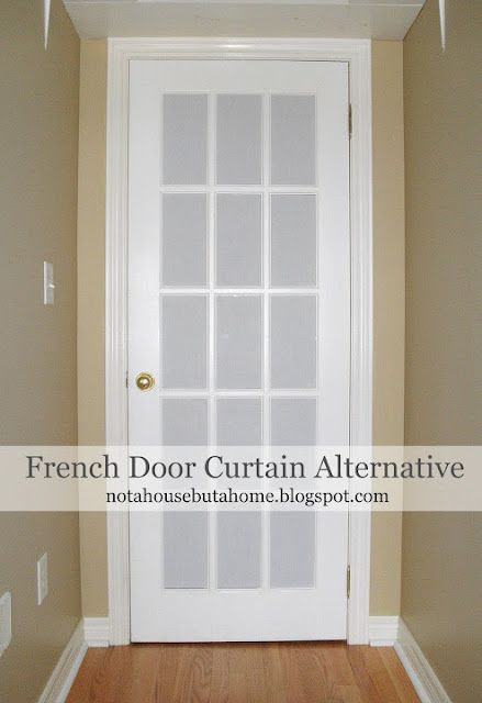 Not A House But A Home Tutorial Diy French Door Curtain Alternative With Homemade Co Door Curtains Diy Blinds For French Doors French Door Window Treatments