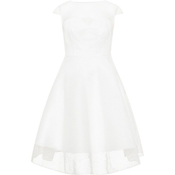 d6036cddd70e1 CHI CHI Curve White Plus Size Flared mesh detail cocktail dress ( 93) ❤  liked